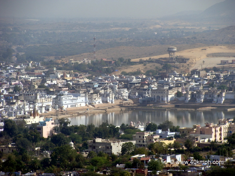 View of Pushkar Lake from Savitri Temple, Rajasthan