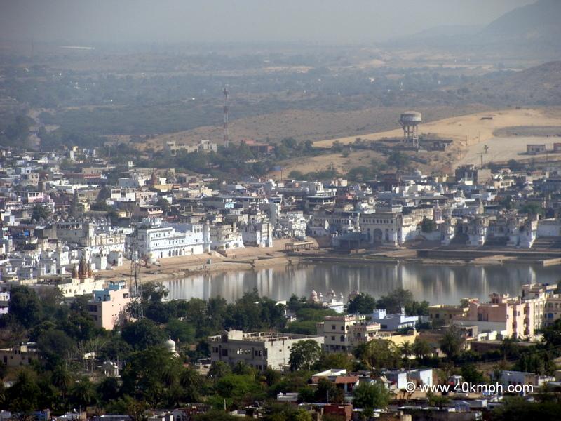 View of Pushkar Lake from Savitri Temple, Rajasthan