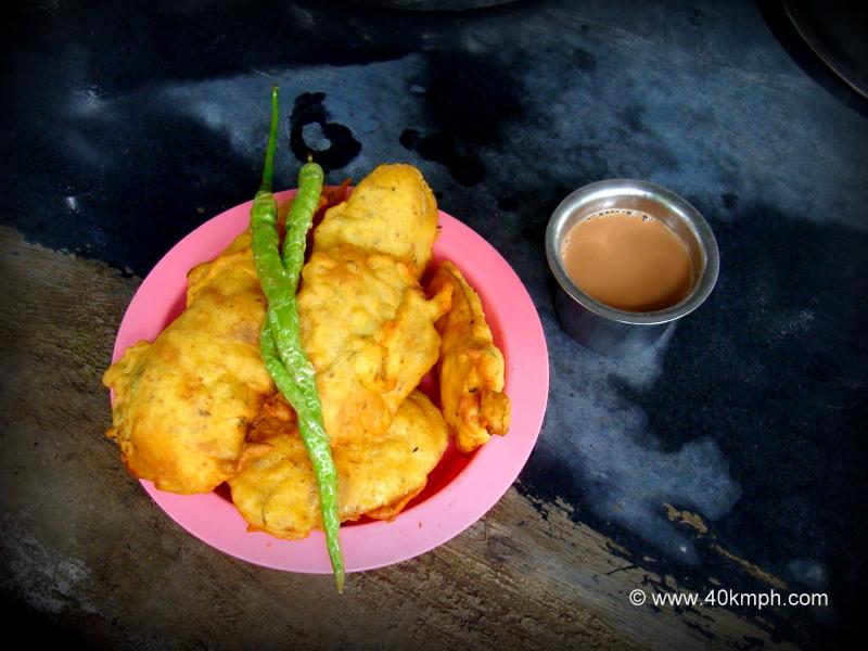 Batata Bhaji with Tea for Breakfast