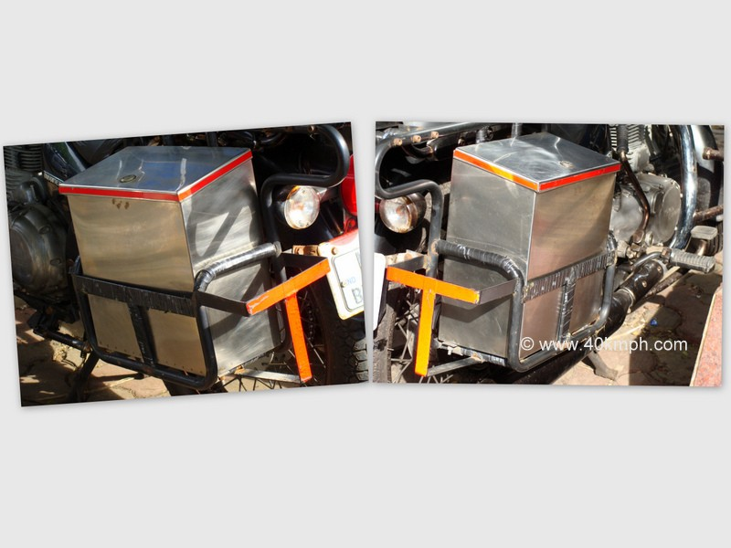 Ladakh Carrier with Hard Luggage Box for Royal Enfield Motorcycle