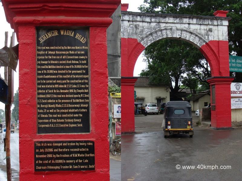 History of Jehangir Wadia Road, Udvada, Gujarat