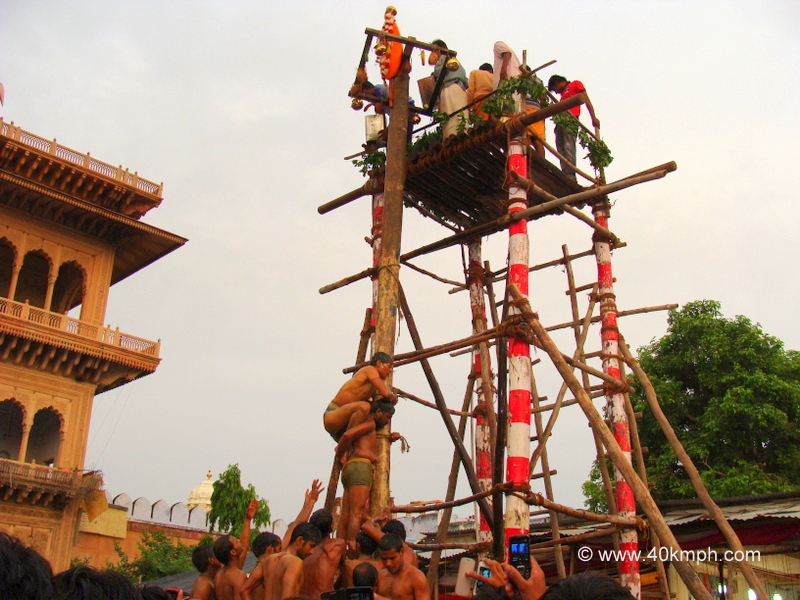 Latthe Ka Mela, Rangji Temple, Vrindavan, Uttar Pradesh