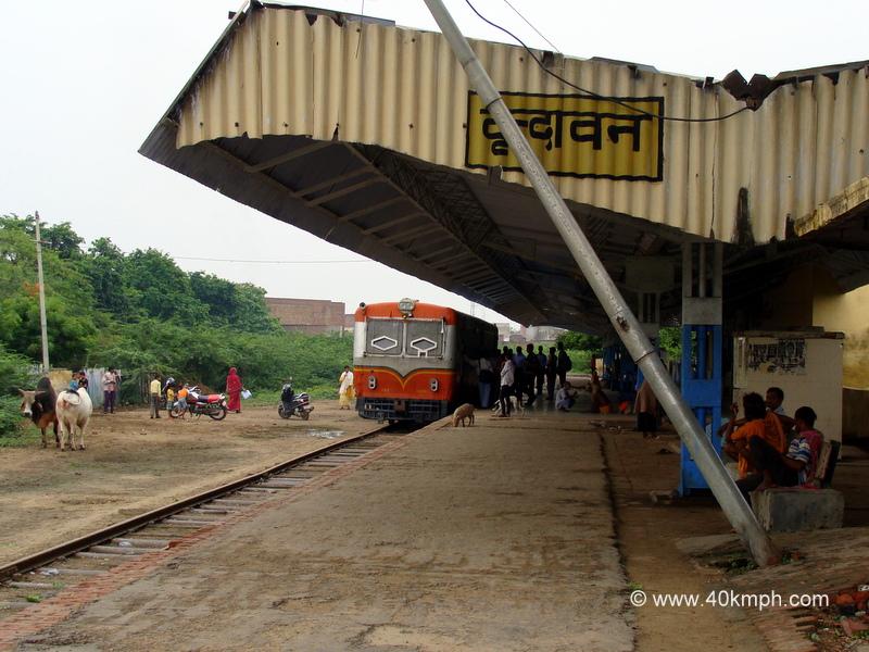 Railbus at Vrindavan Railway Station, Uttar Pradesh