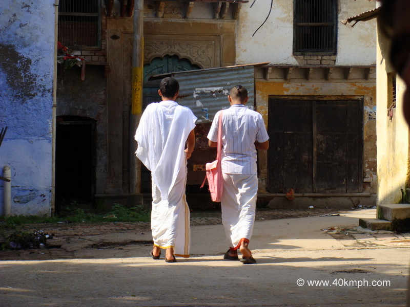 Students Walking in Traditional Clothing
