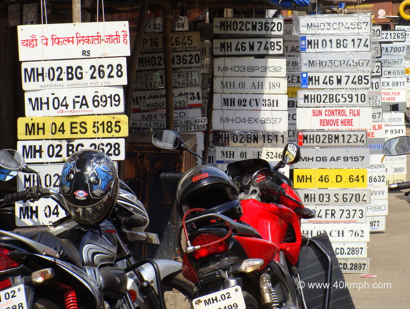 Vehicle Registration Plates of Mumbai