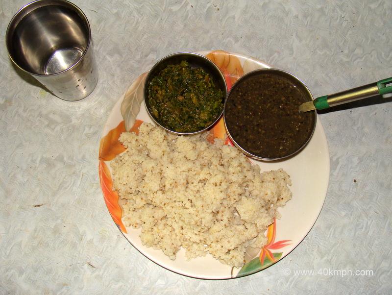 Arbi aur Kashifal ke Patte ki Sabzi, Ches, Jhangora - Food of Uttarakhand
