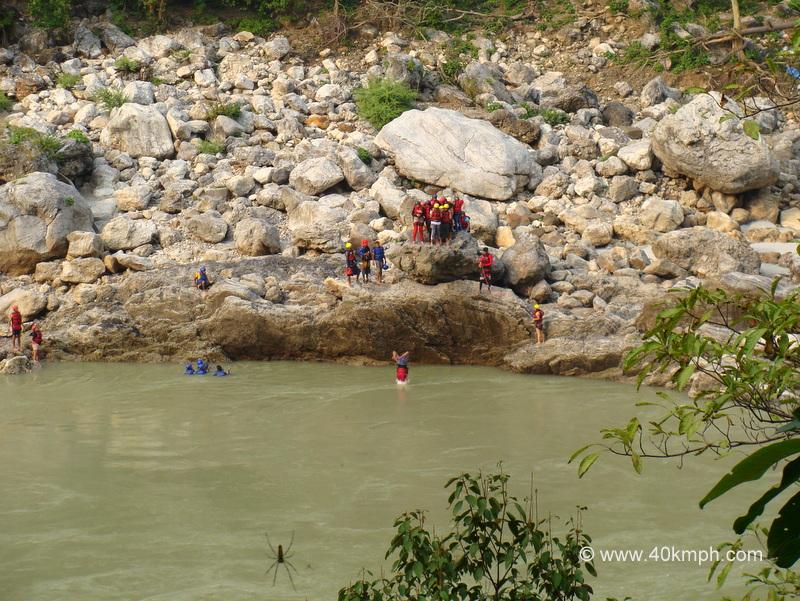 Cliff Jumping, Neer Gaddu, Rishikesh, Uttarakhand