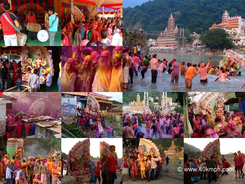 Durga Visarjan 2013, Tapovan, Rishikesh, Uttarakhand