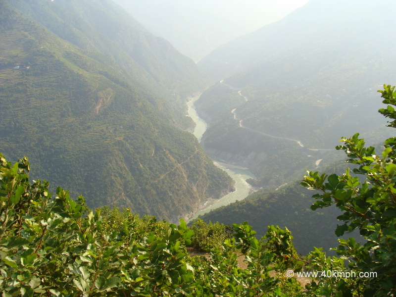 View of Alaknanda River from Mahad Jali, Tehri Garhwal, Uttarakhand