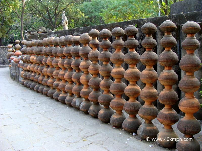 Array of Earthern Pots, Rock Garden, Chandigarh