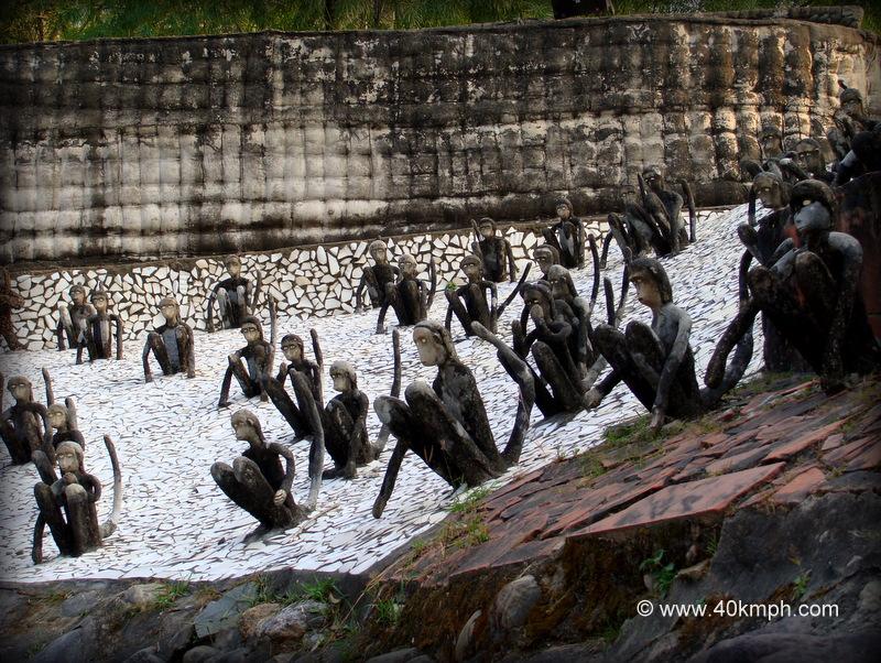 Monkey Sculptures at Rock Garden, Chandigarh