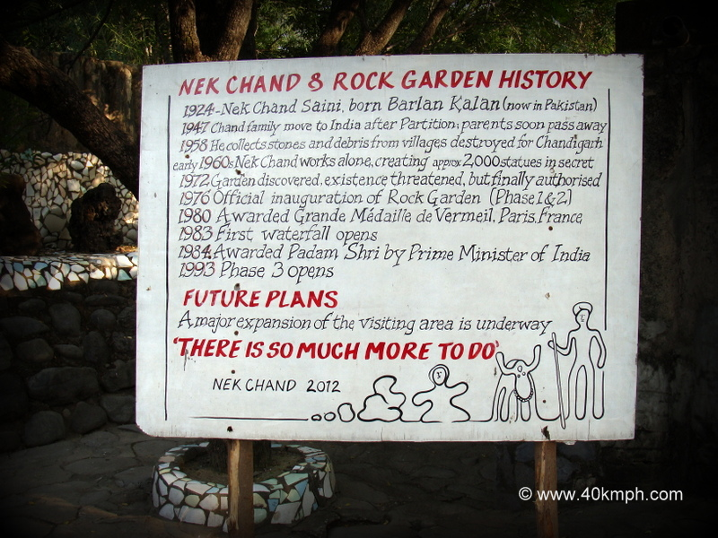 Nek Chand and Rock Garden History