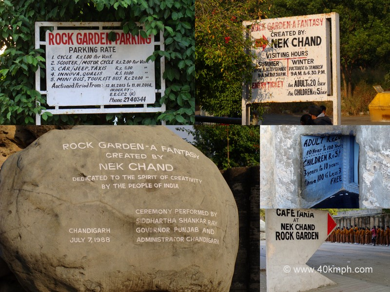 Visit Details at Nek Chand Rock Garden, Chandigarh