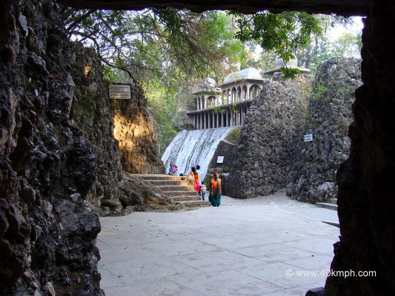 Waterfall Using Recycled Rainwater at Rock Garden, Chandigarh