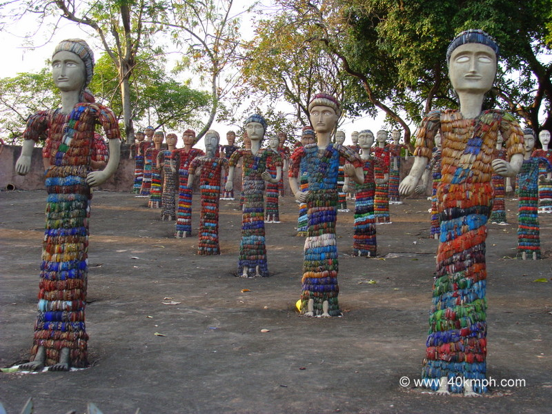 Women Sculptures Decorated with Bangles at Rock Garden, Chandigarh
