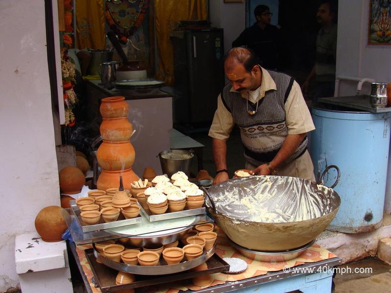Malaiyo - Seasonal Dessert at Dwarkapuri Milk Bahar, Chowk, Varanasi, Uttar Pradesh
