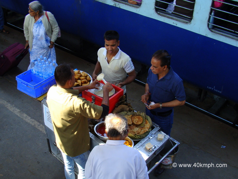 Vendor Serving Rabri at Abu Road Railway Station, Rajasthan