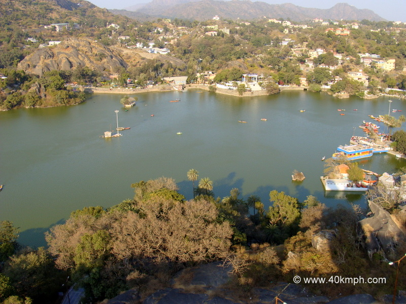 View of Nakki Lake from Toad Rock, Mount Abu, Rajasthan