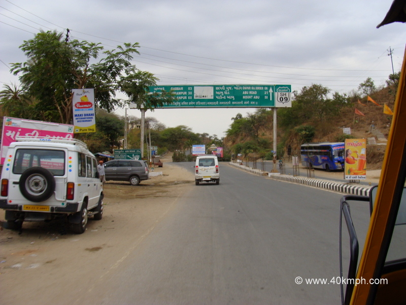 Distance Chart from Ambaji to Mount Abu