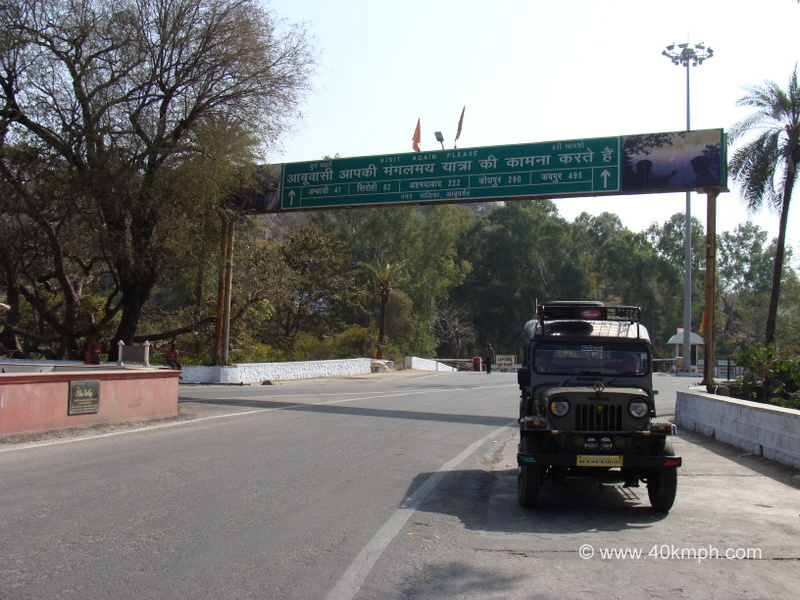 Distance Chart from Mount Abu (Rajasthan) to Other Cities