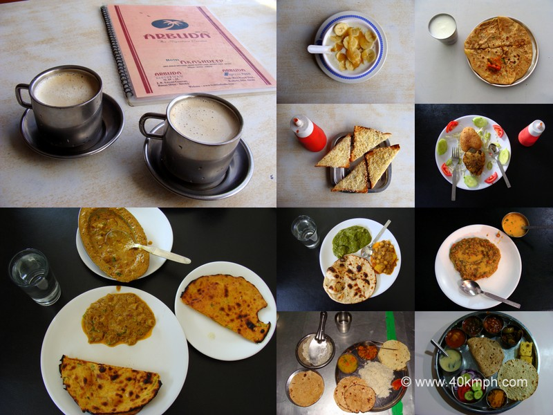 Food and Drink from Restaurants and Canteen in Mount Abu, Rajasthan