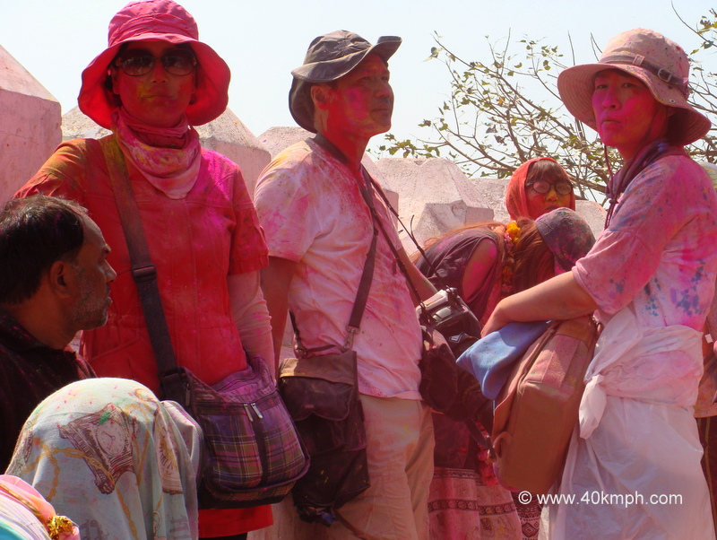Foreigners Celebrating Holi
