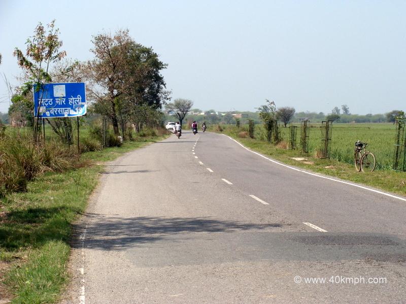 Road to Barsana, Uttar Pradesh Famous for Lathmar Holi