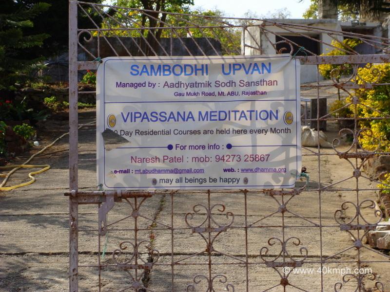 Sambodhi Upvan, Aadhyatmik Sodh Sansthan, Gau Mukh Road, Mout Abu, Rajasthan