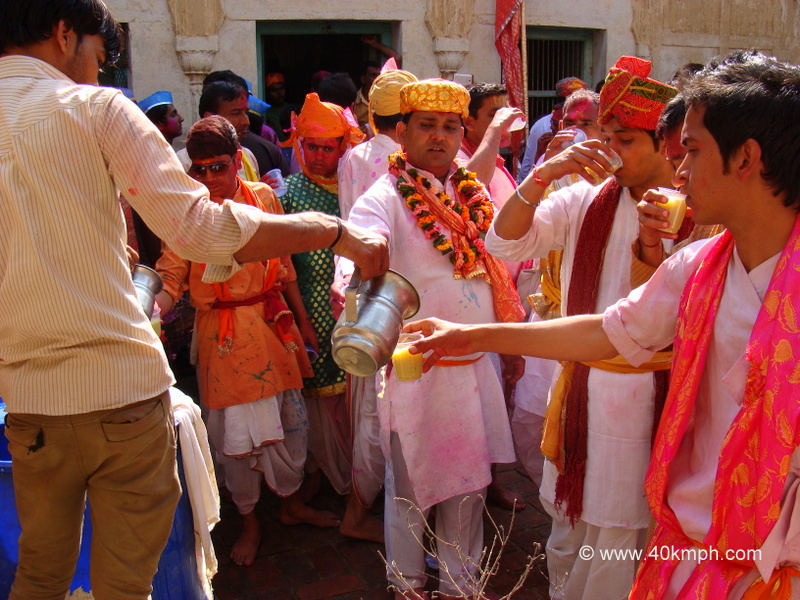 Thandai - Traditional Drink on Holi at Pili Pokhar, Barsana, Uttar Pradesh