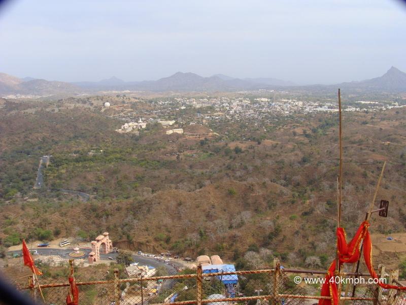 View of Ambaji Town from Gabbar Hill, Gujarat