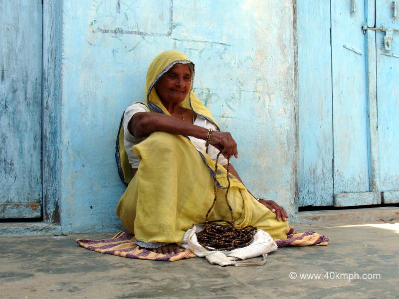 Woman Chanting Japa on 1108 Beads Mala