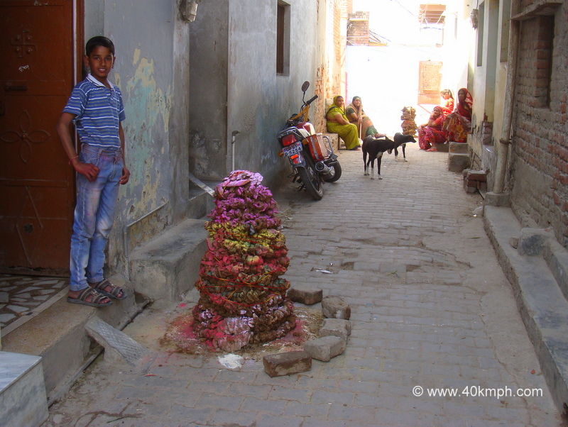 Cow Dung Cakes for Holi Bonfire