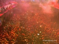 Crowd of Devotees during Huranga Festival at Dauji Temple, Baldeo, Uttar Pradesh