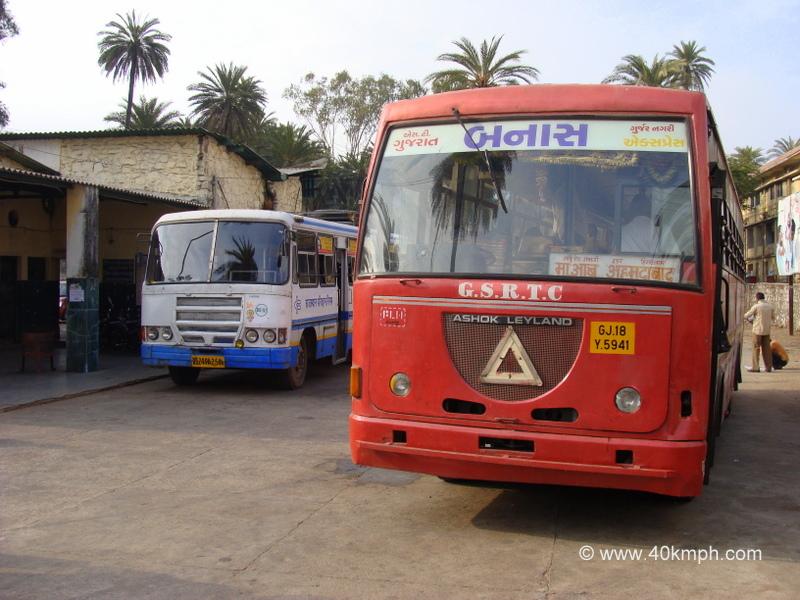 GSRTC Bus from Mount Abu to Ambaji