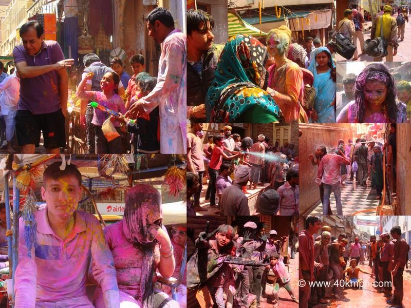 Holi 2014 in Vrindavan, Uttar Pradesh