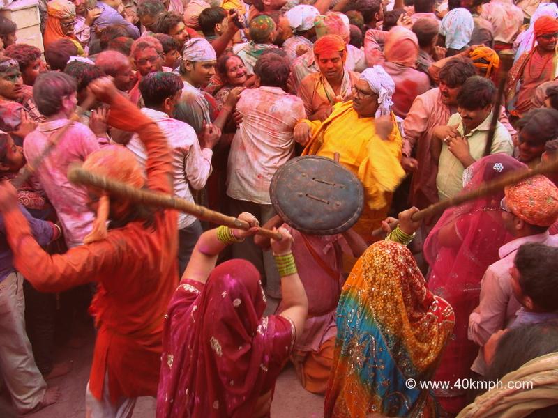 Lathmar Holi - 2014, Barsana, Uttar Pradesh