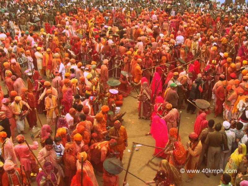 Lathmar Holi - 2014, Nandgaon, Uttar Pradesh