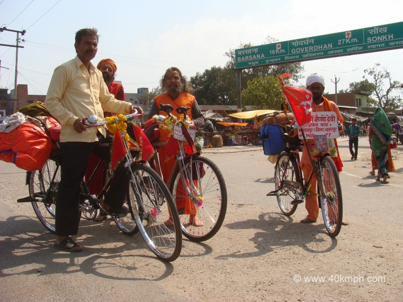 Sadhus Journey from Vrindavan to Vaishno Devi by Bicycle