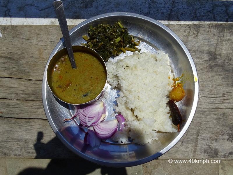 Chausa ki Dal, Chaulai ka Saag, Mota Chawal - Traditional Dish of Uttarakhand