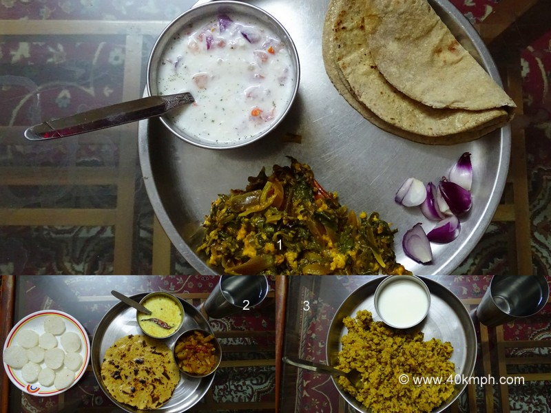 Vegetarian Dinner Varieties during Homestay