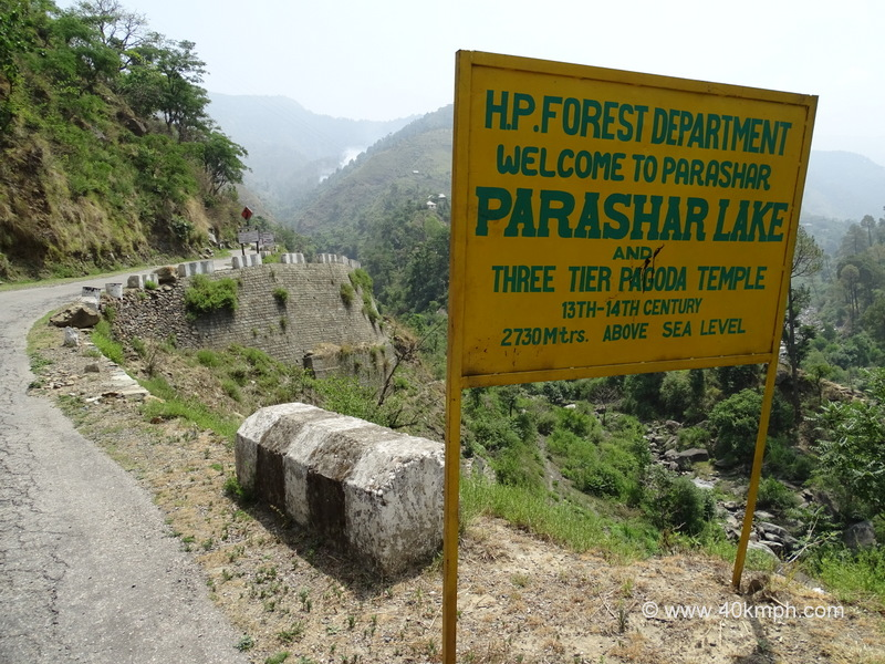 Welcome Sign at Mandi Prashar Road, Himachal Pradesh