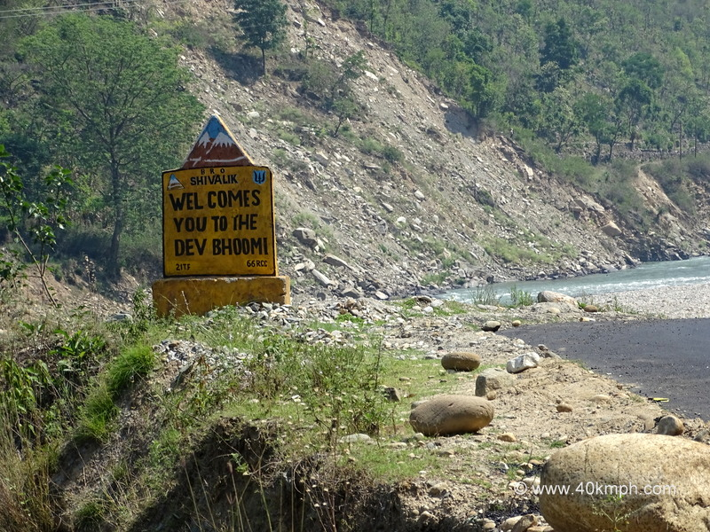Welcome to Uttarakhand Road Sign