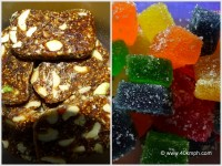 A Collage of Sweets - Anjeer Soft Chikki and Jelly