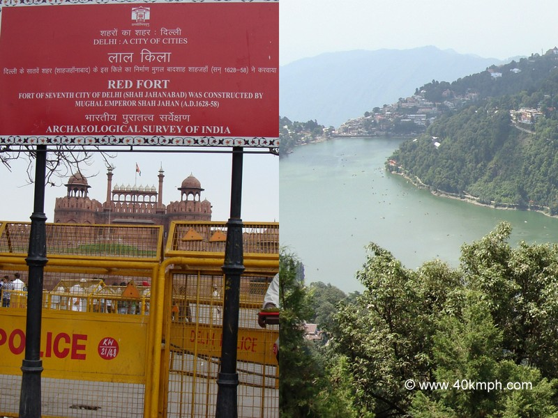A Collage of Two Cities - Delhi and Nainital