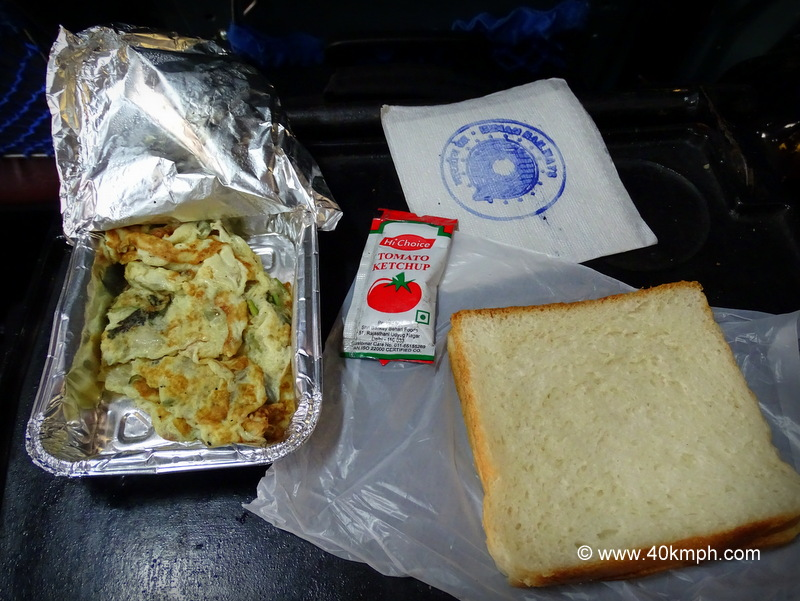 Breakfast in Train