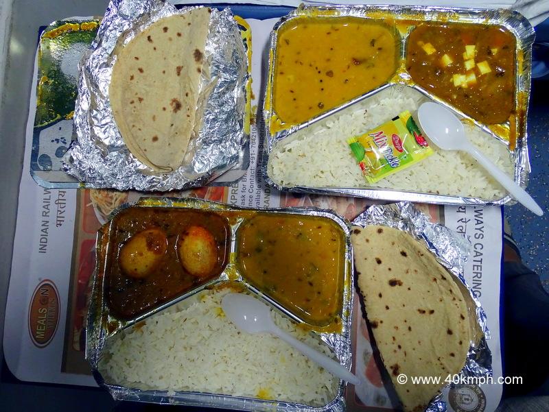 Dinner in Train
