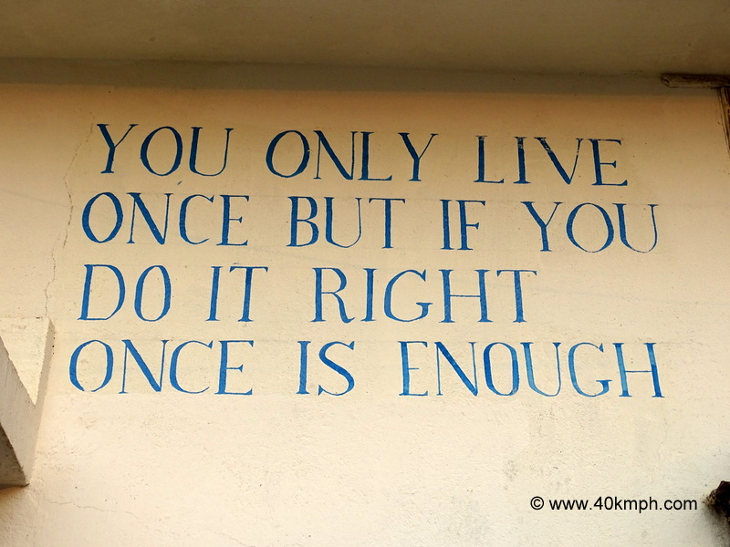 Quote About One Life is Enough