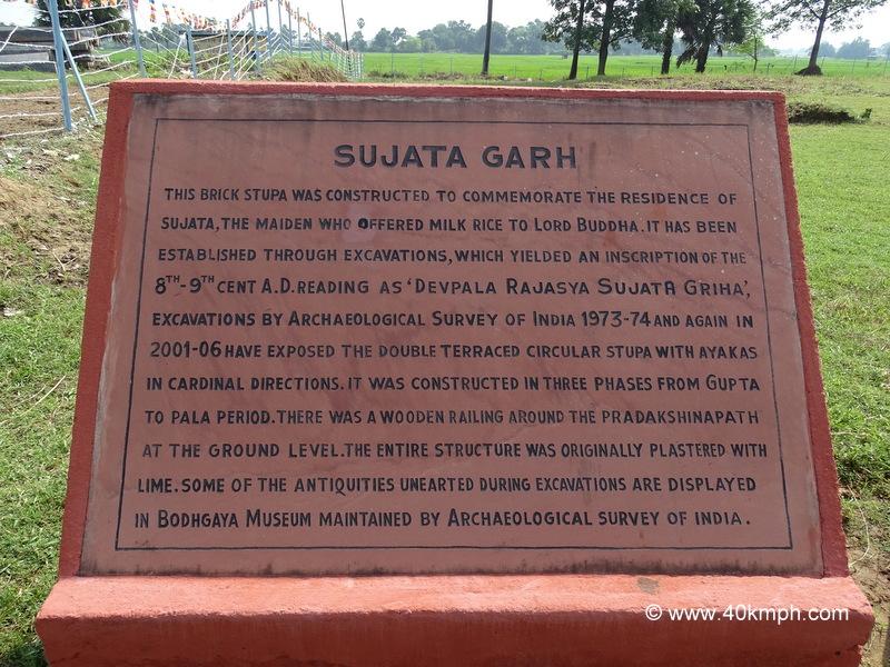 Sujata Garh (Bakraur Village nearby Bodhgaya, Bihar) ASI Historical Marker