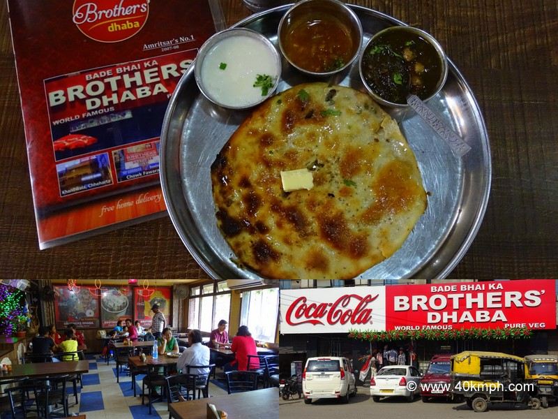 Breakfast at Bade Bhai Ka Brothers Dhaba, near Town Hall, Amritsar, Punjab