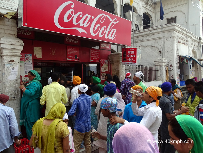 Crowd Outside Soft Drinks Shop in Amritsar, Punjab